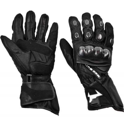 Перчатки рейсинговые MadBull R5 (черные)